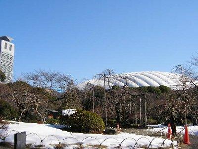 雪のドーム