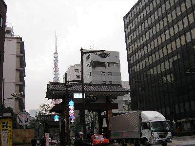 大門から東京タワー