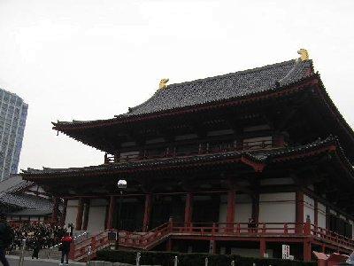増上寺で修学旅行