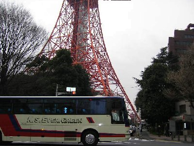東京タワーの下だけが
