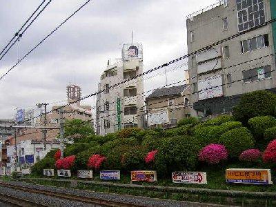 駒込駅ホームから