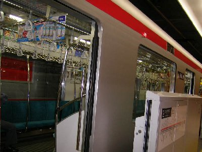 エクスプレスの電車