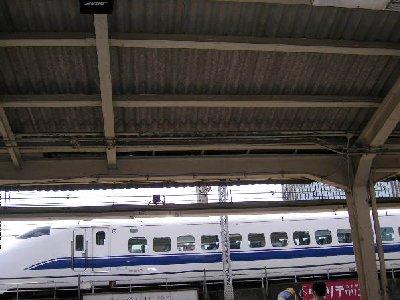 新橋のホームから新幹線