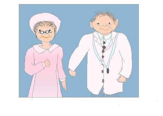 お医者さんと看護婦さん