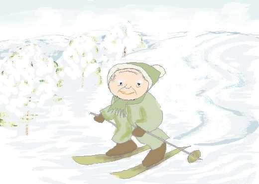 じいじのスキー