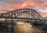 夕暮れの旭橋